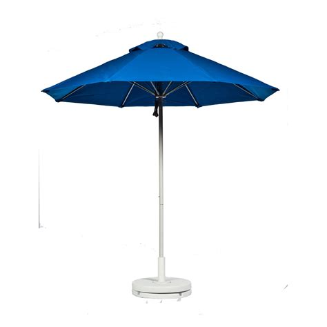 7 5 ft pulley fiberglass market umbrella with white pole