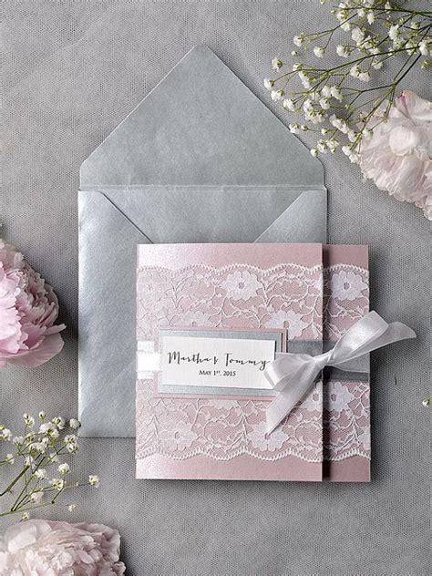hochzeitseinladungen rosa grau faire part mariage et gris 20 faire part de mariage