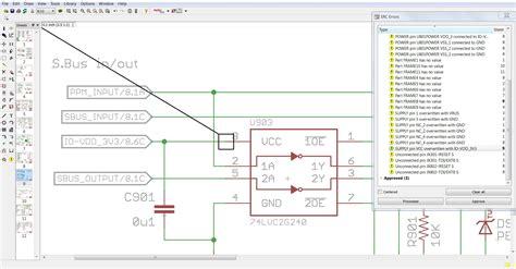 schematic errors  eagle  vcc  vdd
