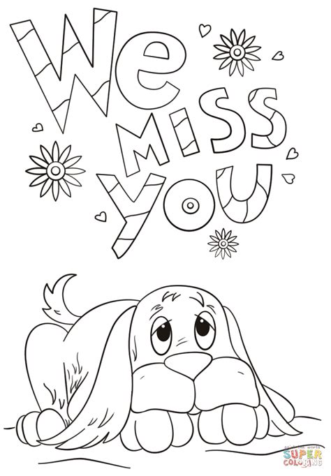Miss U Coloring Pages by We Miss You Coloring Page Free Printable Coloring Pages