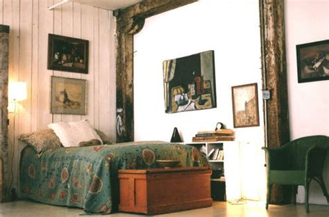 modern bohemian bedroom modern bohemian bedroom white blue wood photo by