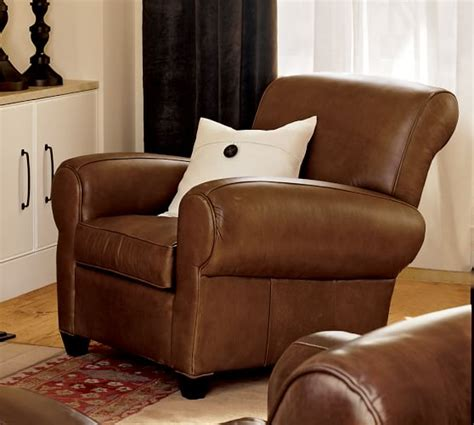 pottery barn recliners manhattan leather recliner pottery barn