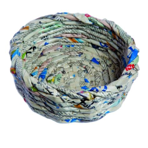 Unique Handmade Products - unique handmade paper products basket small