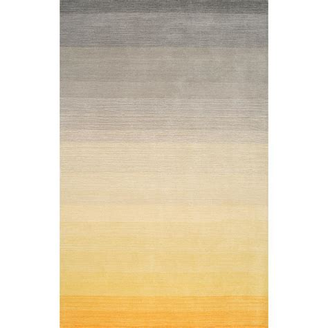 ombre area rugs nuloom ombre nelia yellow 4 ft x 6 ft area rug mrhz01b 406 the home depot
