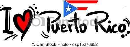 clipart vector of love puerto rico creative design of