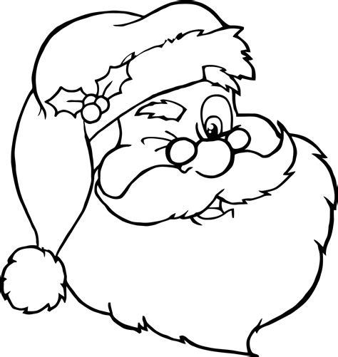 imagenes de santa claus en blanco y negro dibujos papa noel para colorear e imprimir archivos