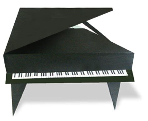 How To Make Origami Piano - origani grand piano
