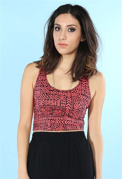 abstract pattern top abstract pattern crop top shop dresses at papaya clothing
