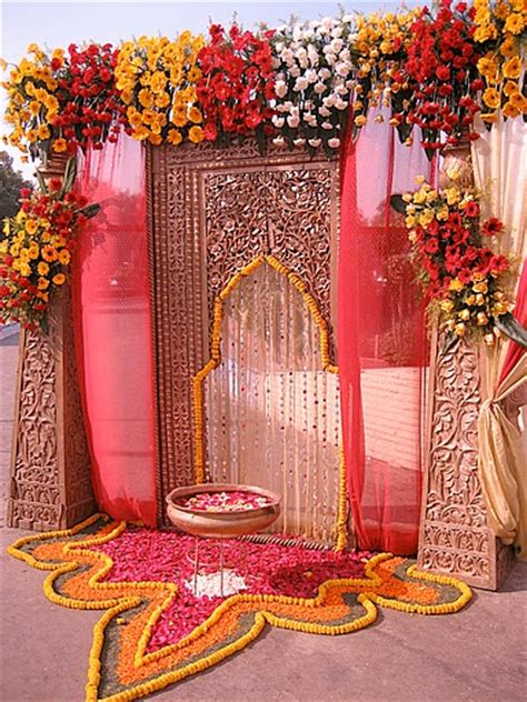 Indian Wedding Entrance Decorations by A Wedding Planner Indian Wedding Stage Decorations And