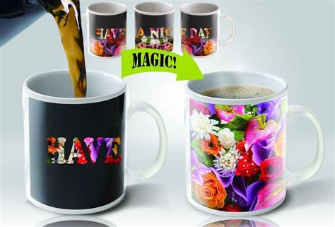 Coffee Magic magic coffee mugs heat sensitive color changing coffee mug