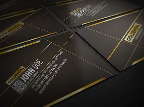 Golden Business Card Template by Golden Typography Business Card Template Inspiration