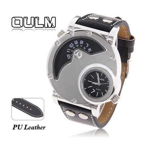 Oulm Quartz High Quality Band Fashion 3130 Leather oulm s quartz leather band wrist shaped