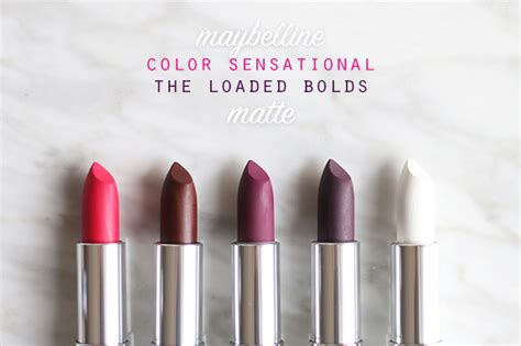 Diskon Maybelline Color Sensational The Loaded Bolds Lipstick veracamilla nl maybelline color sensational matte the loaded bolds
