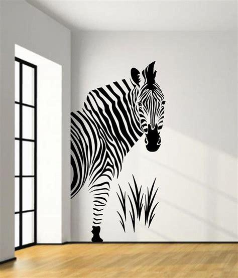 zebra wall stickers veldeco zebra wall stickers black buy veldeco zebra