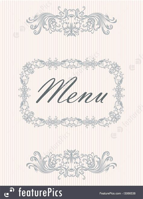 templates vintage menu cover design stock illustration