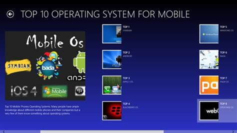 operating system for mobile phones top 10 operating systems for pc and mobiles for windows 8