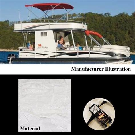 should you tow your boat with the cover on sun tracker 09 party hut regency 30 ft ph30 oem white