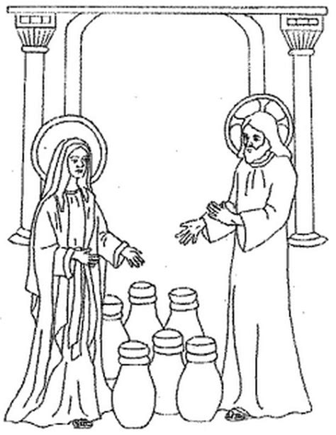 free coloring pages of wedding at cana