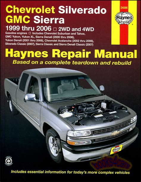 shop manual service repair book 2007 gmc chevrolet silverado gmc sierra shop service repair manual haynes truck chilton