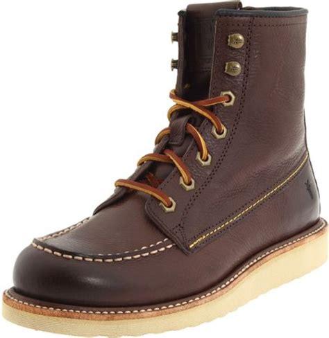frye mens dakota wedge boot in brown for brown