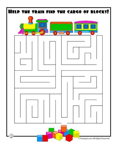 printable train maze train maze preschool ideas pinterest