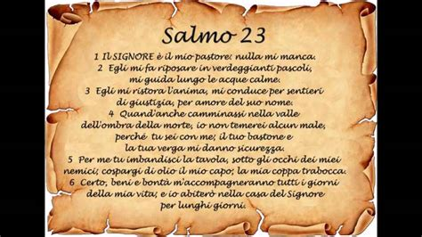 salmo testo dal salmo 23 cantico evangelico