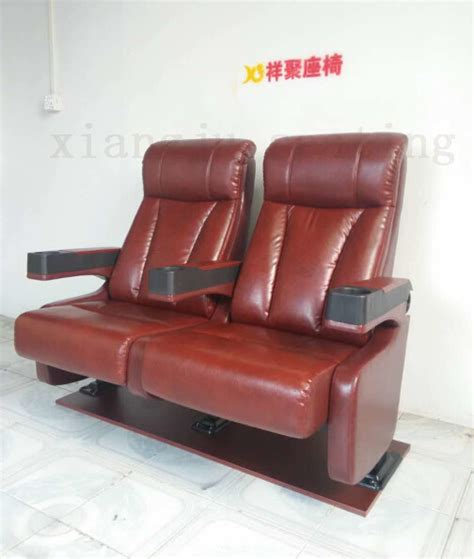 vip home theatre seating chairs genuine leather fixed