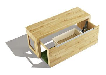 kitty litter bench litterbox hideaway bench i like that it slides open a