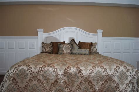 raised panel headboard wainscoting beadboard with raised panel headboard