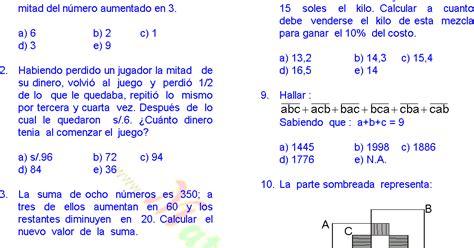 preguntas de matematicas para quinto grado matem 193 ticas 30 problemas resueltos de quinto grado de