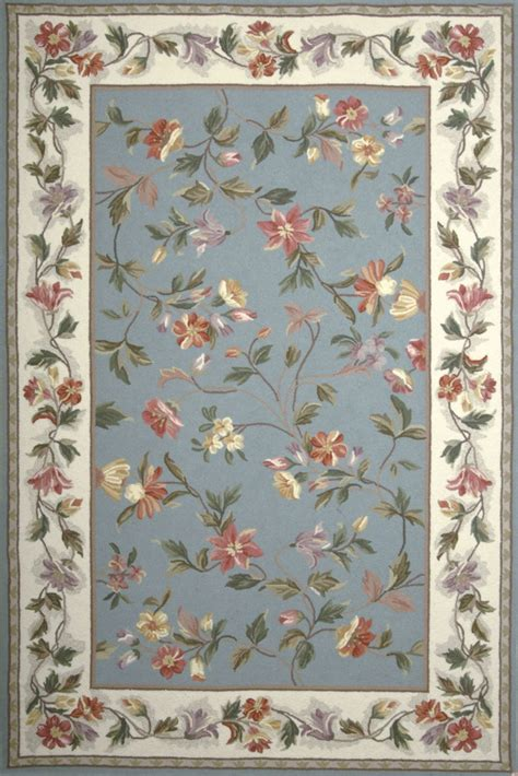 floral rug colonial slate blue and ivory floral 90 quot x 90 quot rug from