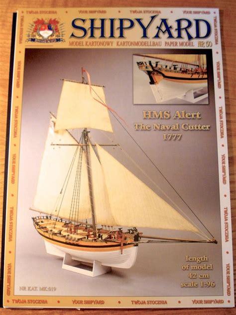 card model ship templates shipyard h m s alert 1777 1 96 scale paper model kit