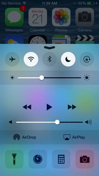 how to get ios 8 style control center on ios 7 ios hacker what s new in ios 8 beta 4 control center makeover and