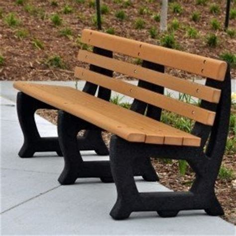 park bench made from recycled plastic recycled park benches foter