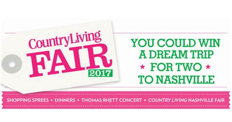 How To Sweepstakes For A Living - country living nashville sweepstakes 2017 nashville