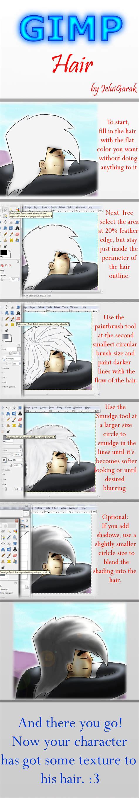 tutorial gimp painting gimp tutorial hair by bejuled on deviantart