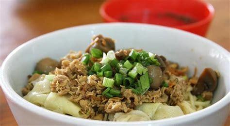 membuat mie ayam pangsit resep sajian sedap mie ayam jamur tiram paling enak
