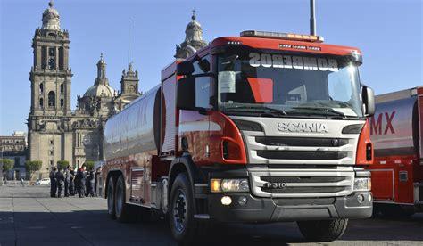 16 camiones de bombero scania a cdmx transportes y turismo