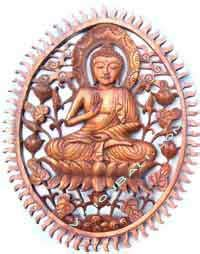 Decal Crf Kode 011 015 buddha wood carving made of suar wood and other local wood