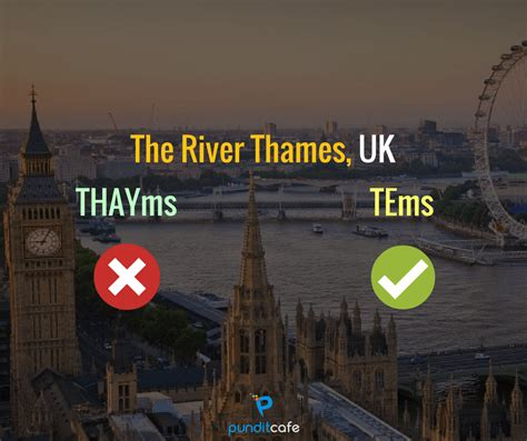 Thames River English Pronunciation | correct pronunciation of often mispronounced popular