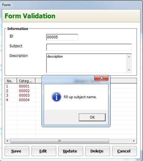 design form validation form validation in visual basic inettutor com