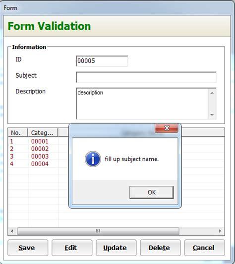 tutorial php form validation form validation in visual basic inettutor com