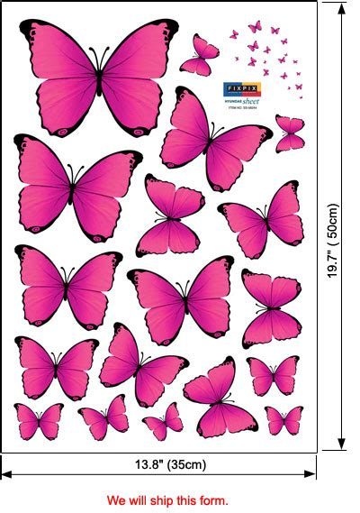 pink butterfly wall stickers pink butterfly wall stickers decor for baby nursery rooms