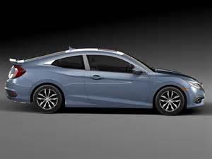 Hyundai Civic Coupe Honda Civic Coupe Led 2017 3d Model Max Obj 3ds Fbx C4d