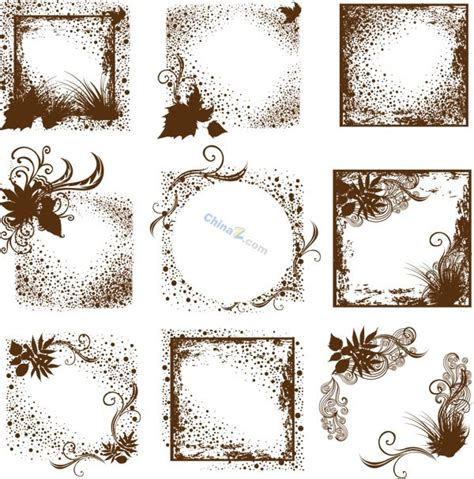 Brown Floral Pattern Border | brown border pattern vector over millions vectors stock