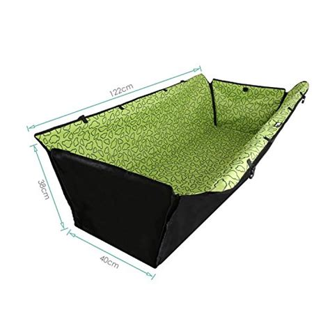 Hammockdouble Layer Water Proof amzdeal 174 washable waterproof layer car seat hammock cover mat blanket adjustable