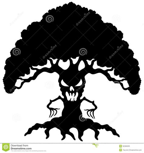 cartoon black tree royalty free stock images image