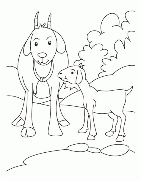 free coloring pages goats image of a goat coloring home