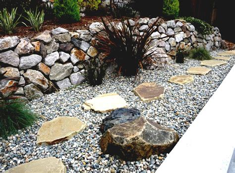 great work for black landscaping rocks for small front