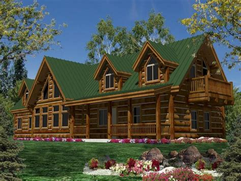 One Story Log House Plans Single Cabin Homes